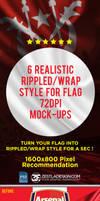 Rippled Flag Mockup (FREE)