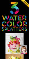 Watercolor Splatters Image PSD For Free