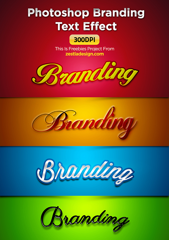 Photoshop Branding Text Effect (300dpi) Free