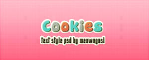 Text Style #1 - Cookies (PSD)