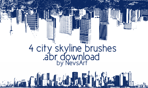 City Skyline Brushes by NevsArt