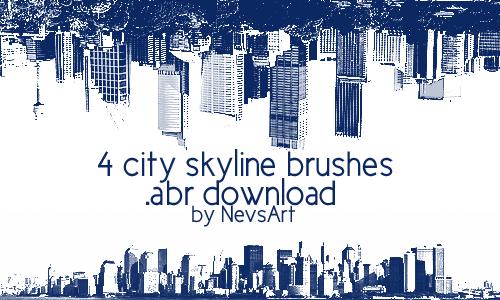 City Skyline Brushes by NevsArt