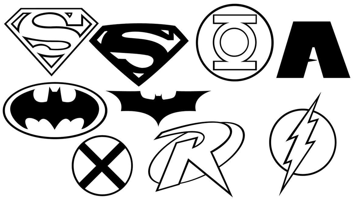Justice League Emblems Justice Emblem Shapes by