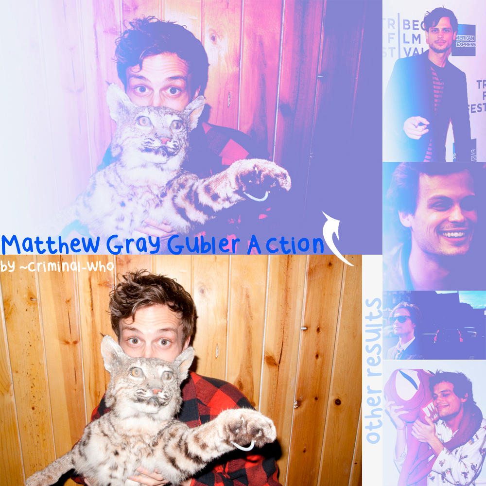 Matthew Gray Gubler Action by criminal-who