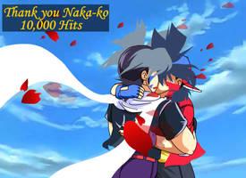 10K Kiriban for Nakako by TechnoRanma