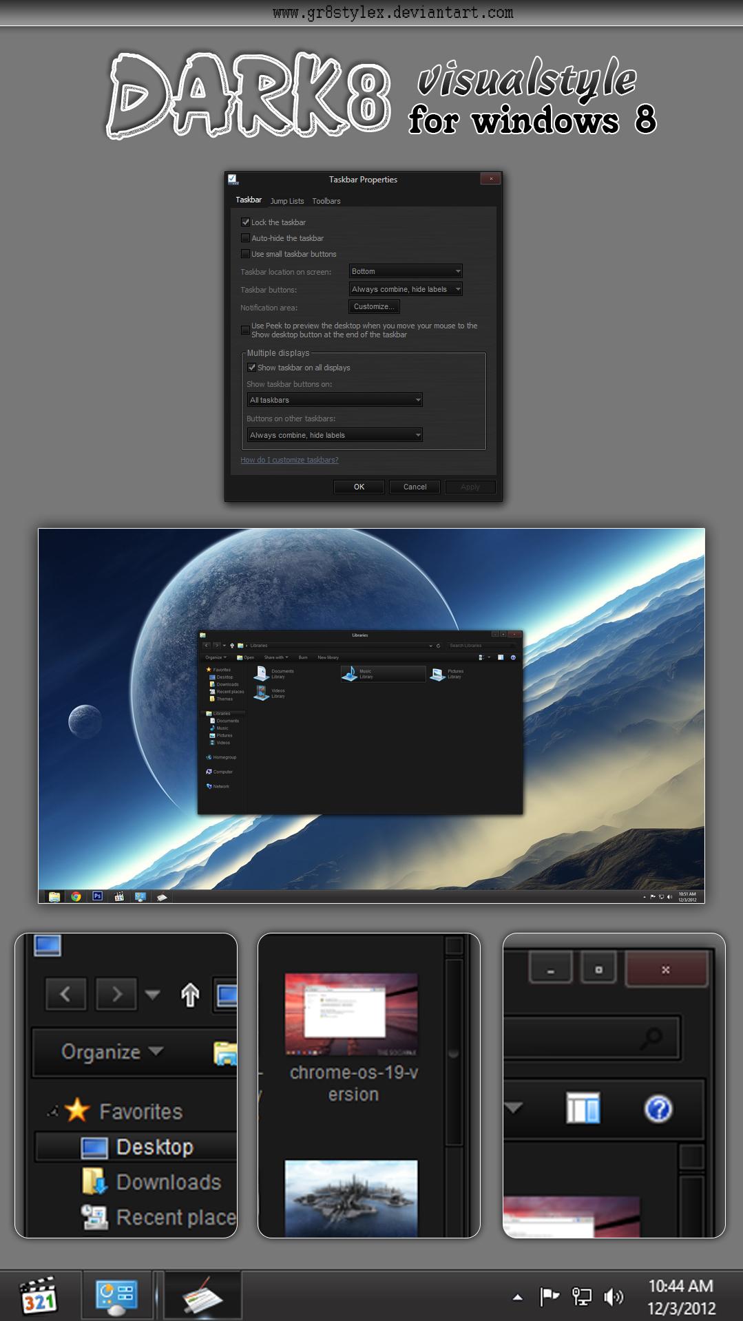 dark8 vs for windows 8
