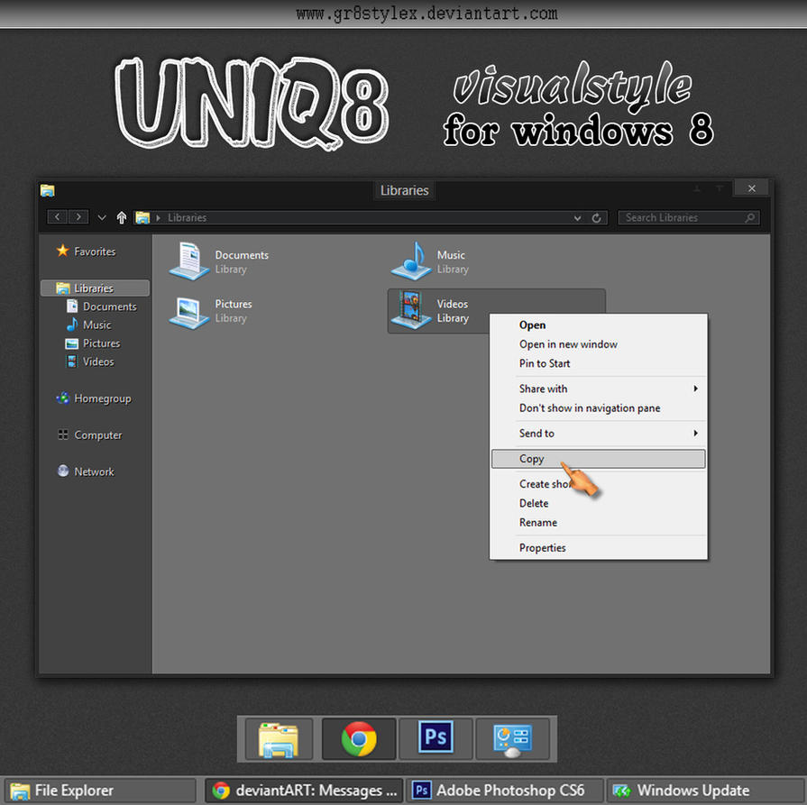 uniq8 vs beta1 for windows 8 by Gr8StyleX