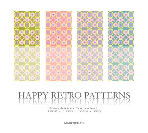 Happy Retro Patterns by Macfree