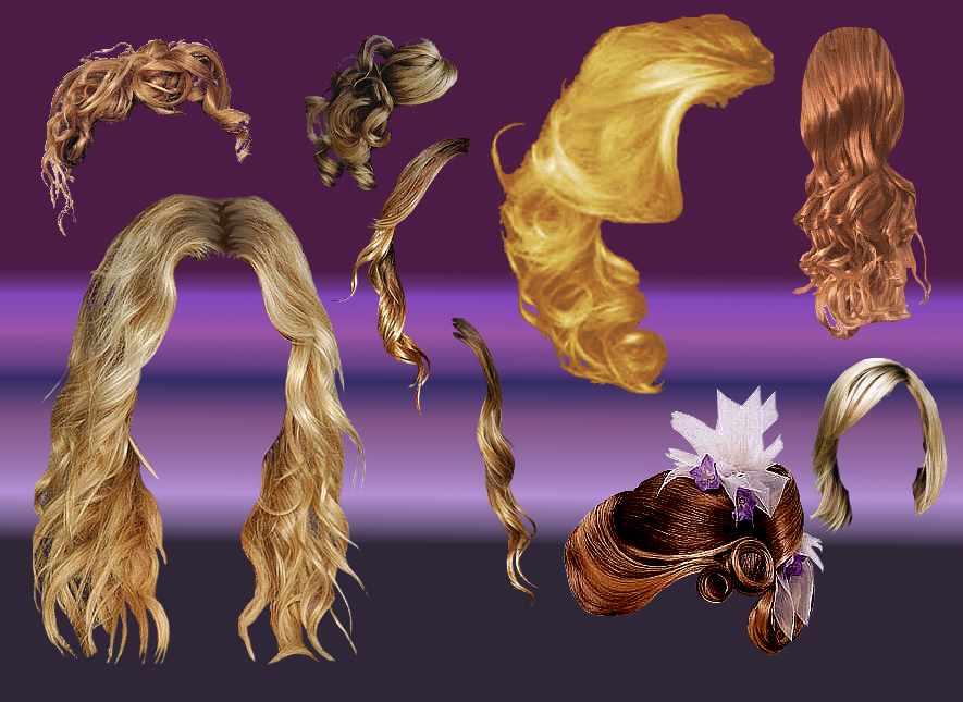 gimp hair brushes