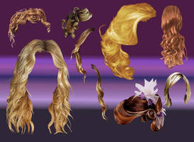 gimp hair brushes by mesoloyo