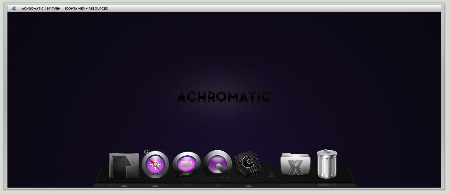 ACHROMATIC by turnpaper