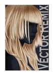 Blonde on Blue -- Vector Remix