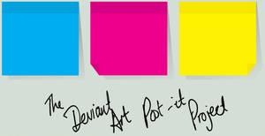 The dA Post-It Project