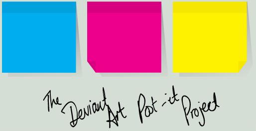 The dA Post-It Project by ChewedKandi