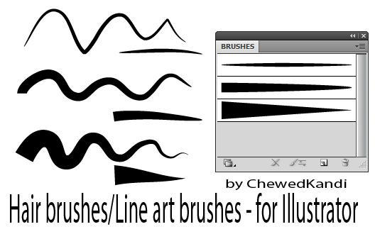 Line Art Brushes Photo : Hair line art brushes for ai by chewedkandi on deviantart