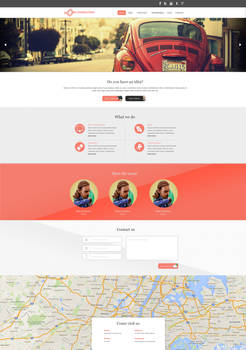 Connection Web Template (PSD included)