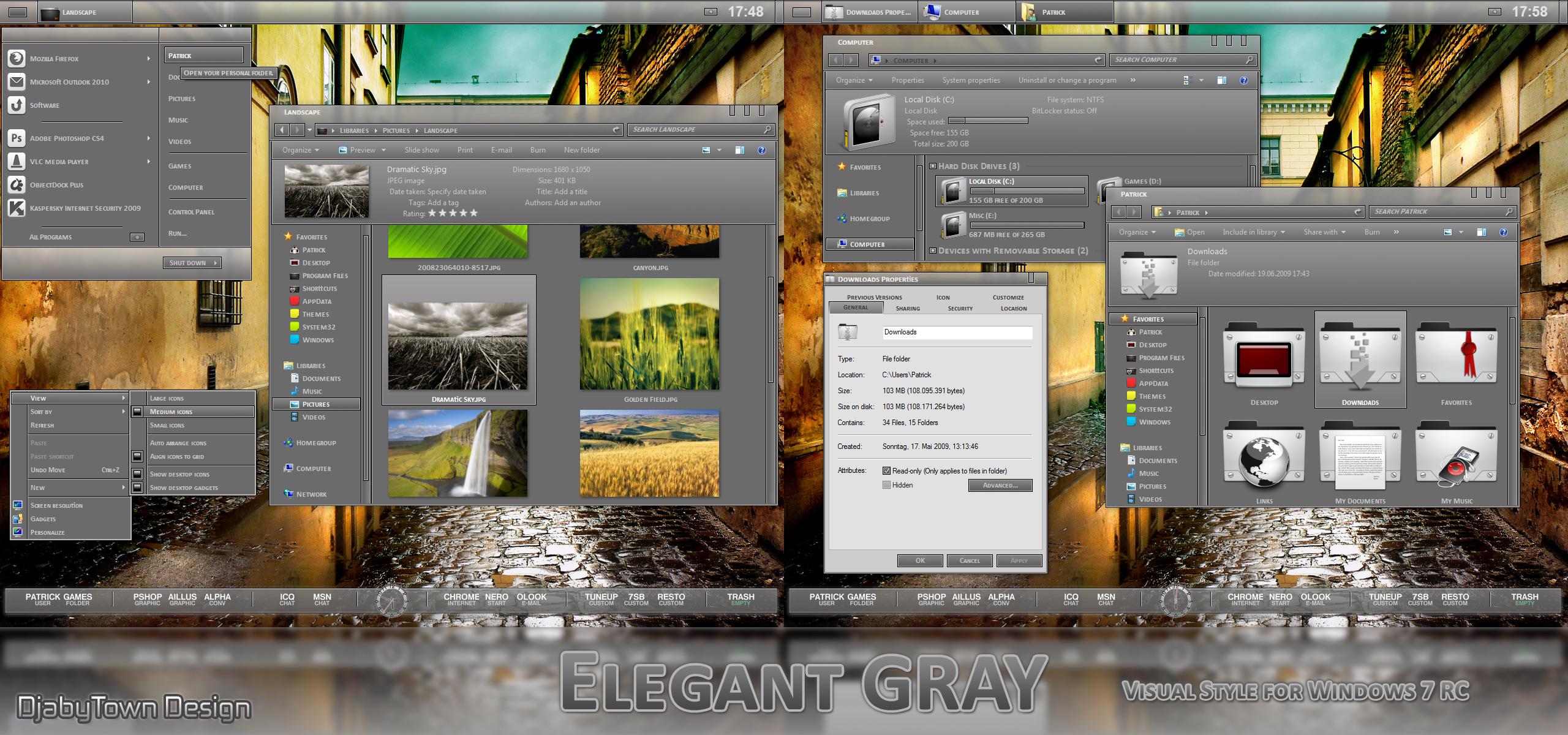 Elegant GRAY VS - Windows 7 RC