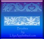 16 Art Nouveau Tile brushes