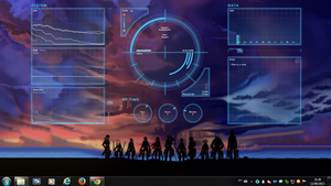 Blue Life Rogers1967 Rainmeter by Rogers1967