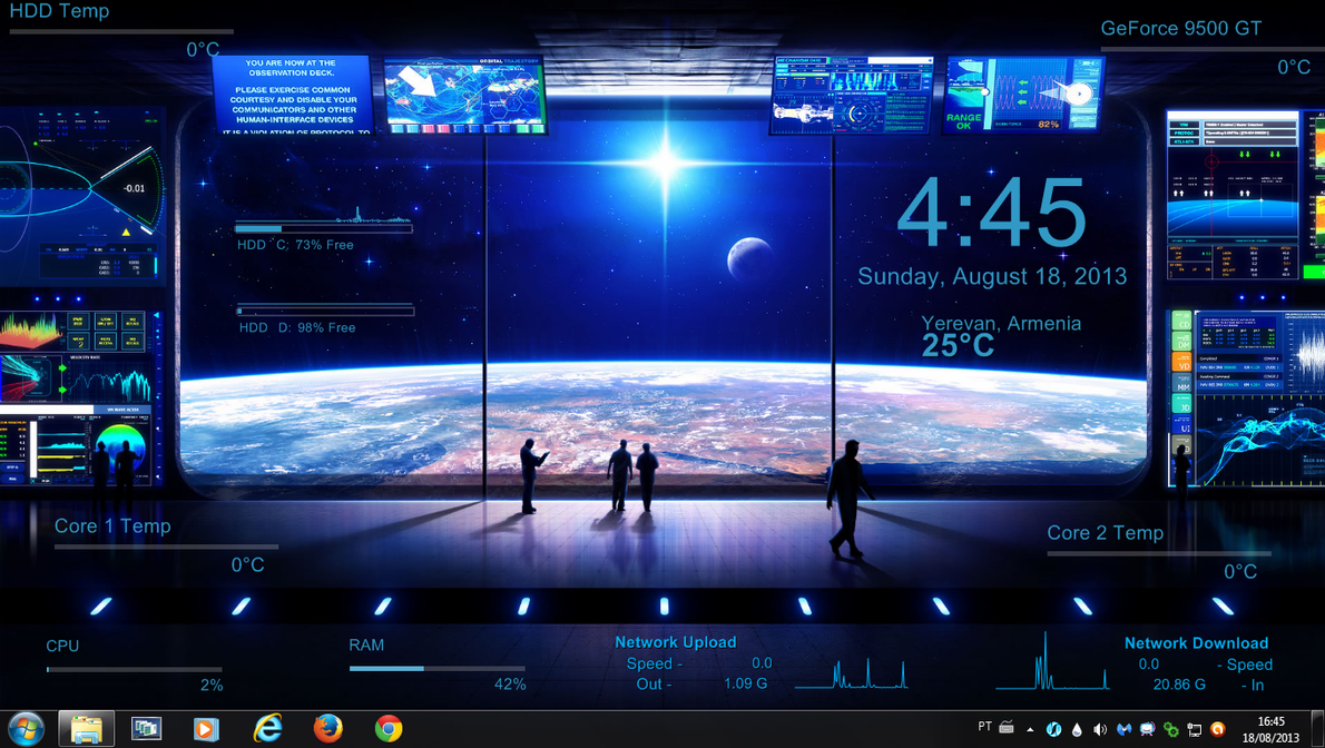 Space Control Rogers1967 Rainmeter by Rogers1967