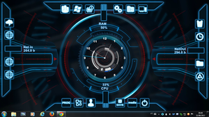Windows Seven Clock Rogers1967 Rainmeter by Rogers1967