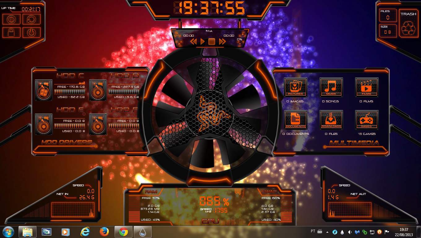 Hardware 4 tones rogers1967 rainmeter by rogers1967 on for Deviantart rainmeter