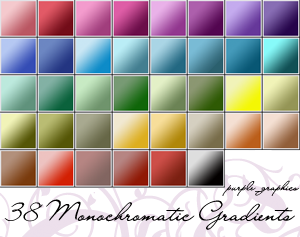 Monochromatic Gradients by purple-feenix