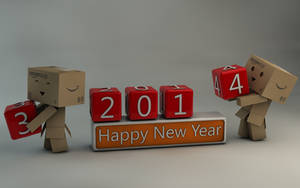 Danbo Happy New Year 2014 by Dracu-Teufel666