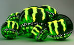 Monster Energy Logo Glowing Balls