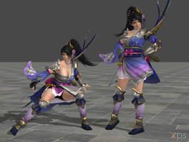 DOA5 Momiji Costume 40 Samurai Warriors Mashup by rolance