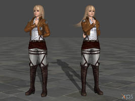 DOA5 Marie Rose Costume 39 Attack on Titan Mashup by rolance