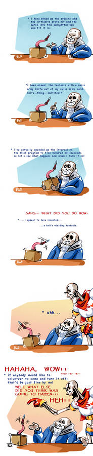 Undertale ask blog: In which Sans creates KWT
