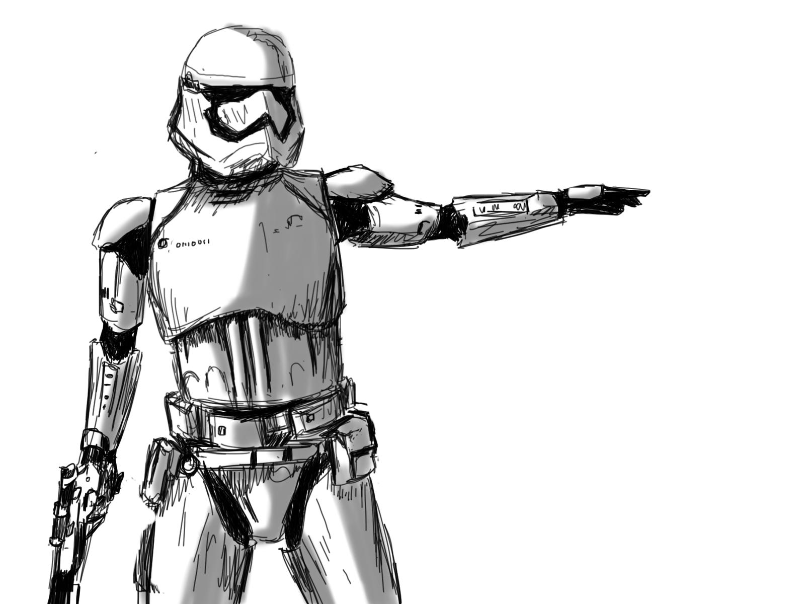 Stormtrooper Sketch by SaraMFDraws on DeviantArt