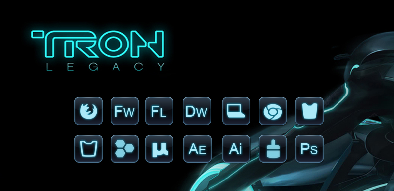 tron object dock icons