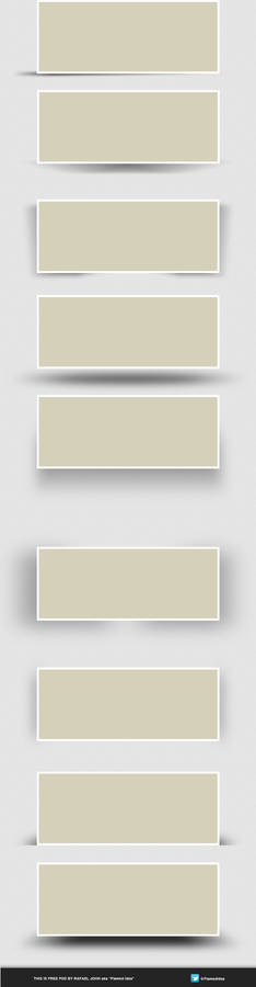 FREEBIE: Web Boxes Shadows PSD