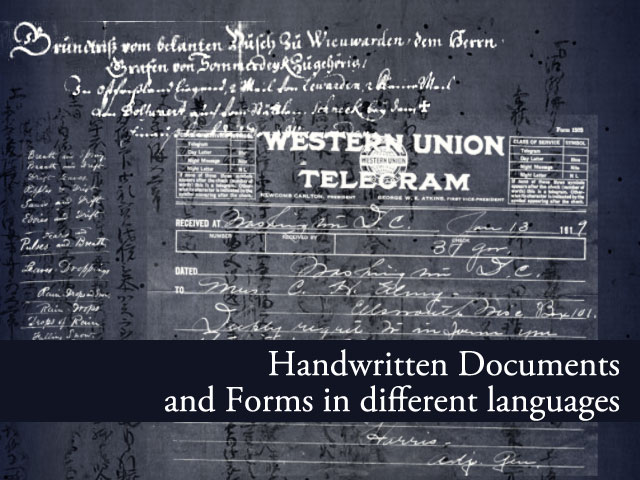 Handwritten Documents