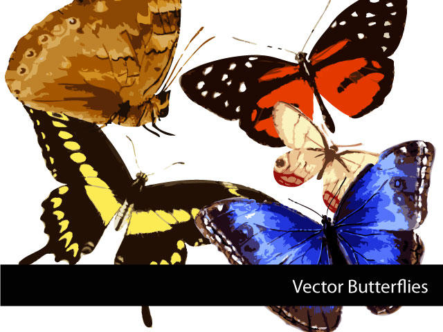 Vector Butterflies by remittancegirl