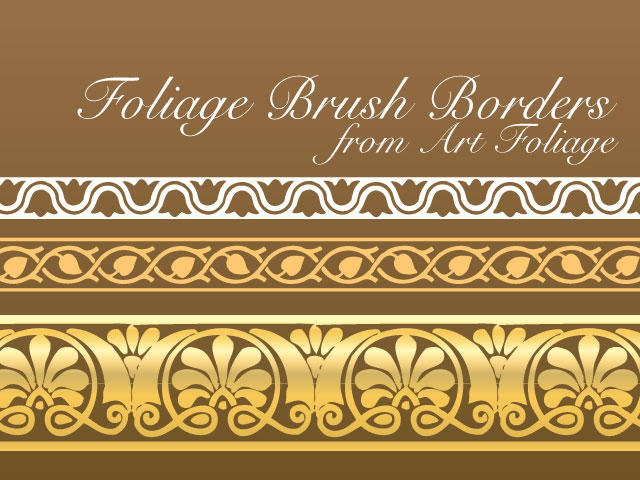 Art Foliage Vector Brushes by remittancegirl