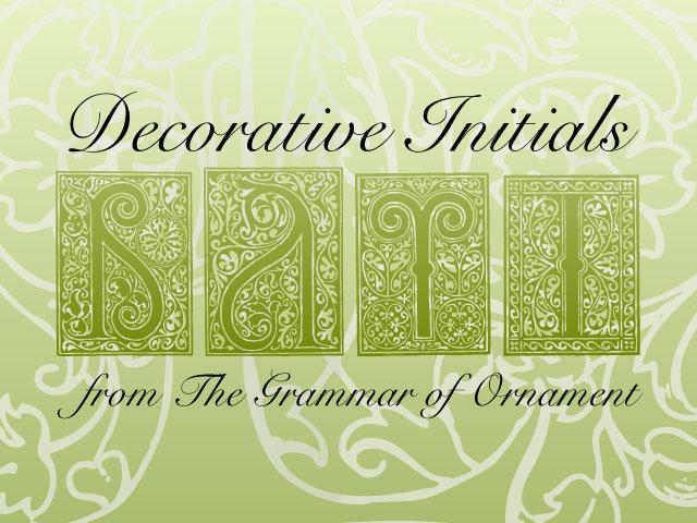Decorative Initials Vectors