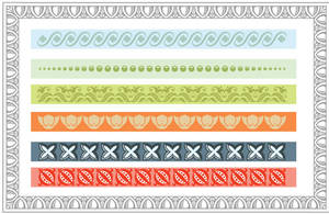 Traditional Typographic Lines Pattern Brushes
