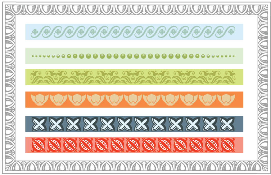 Traditional Typographic Lines Pattern Brushes by remittancegirl