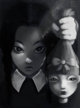 Wednesday Addams and her doll