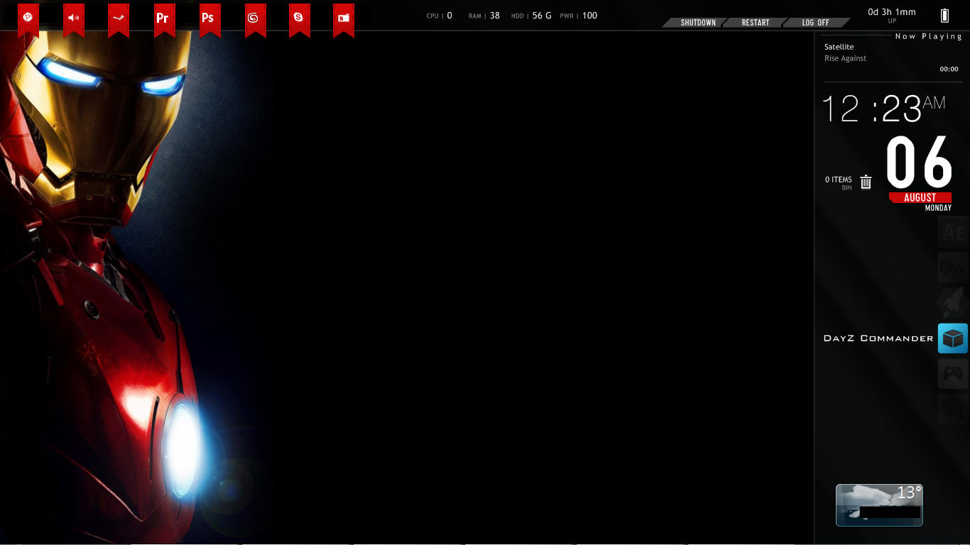 Iron man rainmeter by doolally66 on deviantart for Deviantart rainmeter