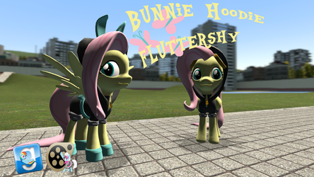 [DL] Bunnie hoodie Fluttershy by BeardedDoomGuy