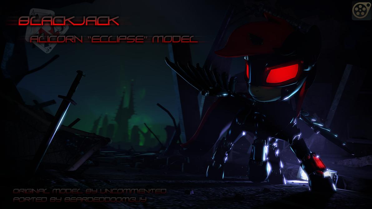 [DL] FO:E Blackjack alicorn armor by BeardedDoomGuy