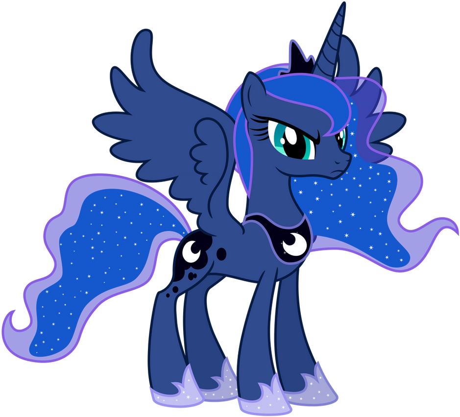 Vector Princess Luna - Angry by KyssS90