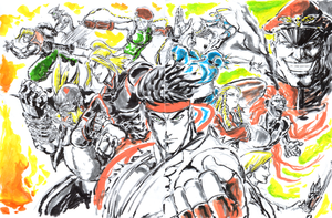 Street Fighter V Tribute - Process GIF by Horoko