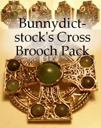 Cross brooch pack by Bunnydict-stock