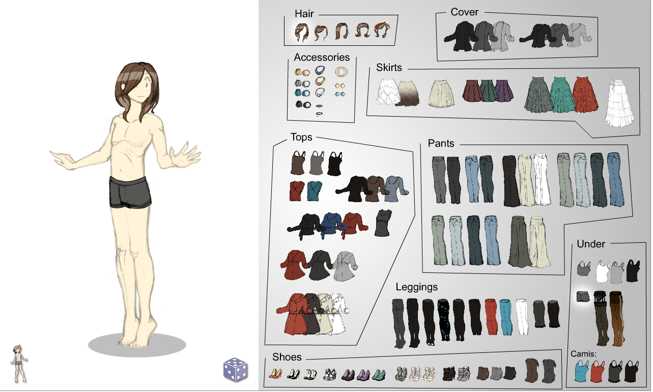 Dress-up Game: Fem Style for the Boy Body by HeartGear on DeviantArt