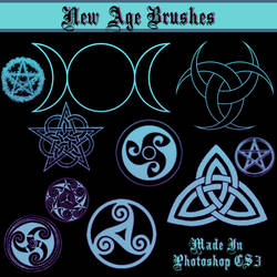 New Age Goddess Symbol Brushes